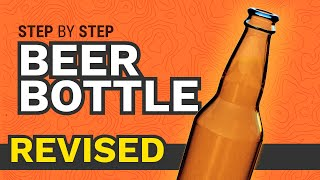 How to 3D Model a Beer Bottle - Learn Autodesk Fusion 360 in 30 Days: Day #2 (REVISED)