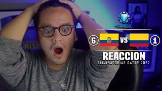ECUADOR VS COLOMBIA 2020 (6-1) - 17/11/2020 | Reacción