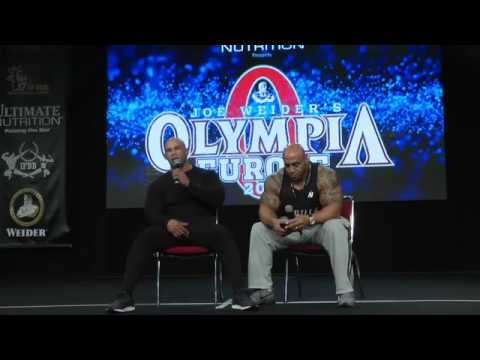 Kevin Levrone Seminar & Posing @ Mr  Olympia Europe 2016 Germany