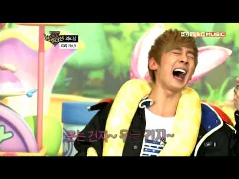 [SUBBED] Chunji & a snake @ 130111 Rising Brothers Ep 12