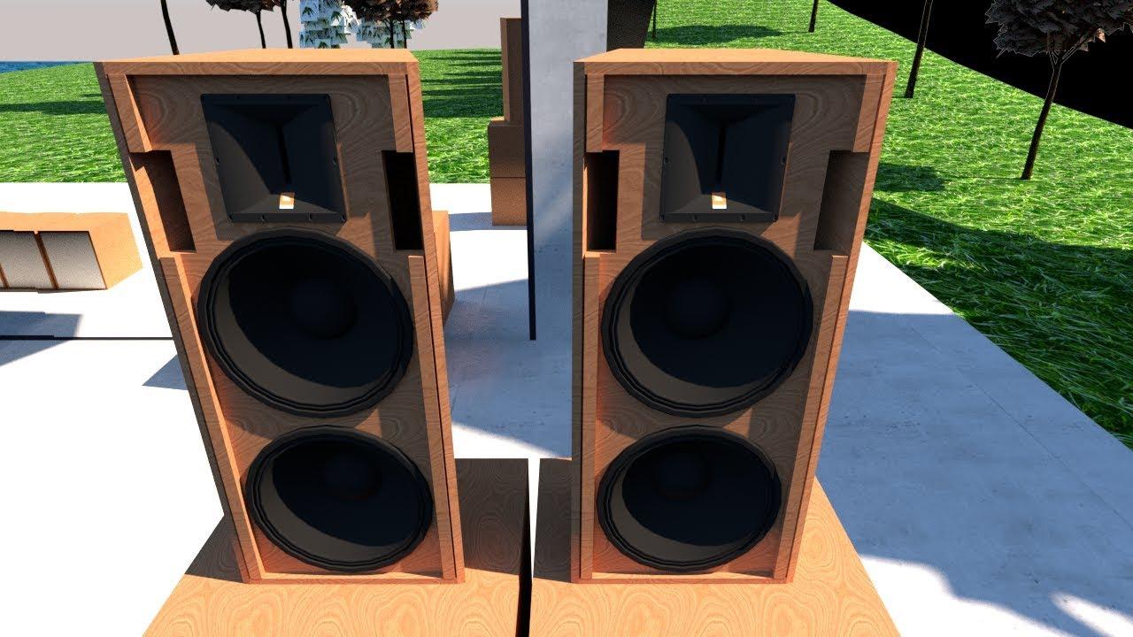 """[Enclosure Design]RCF Dual 10"""" Mid-Hi Loudspeaker System"""