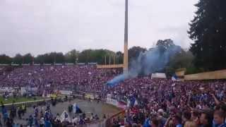 Darmstadt Vs St Pauli pitch invasion: 24-05-2015