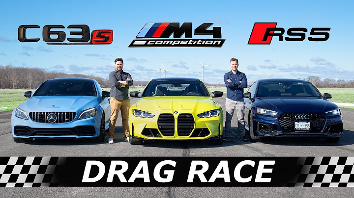 2021 bmw m4 competition vs audi rs5 vs mercedesamg c63s   drag  roll race