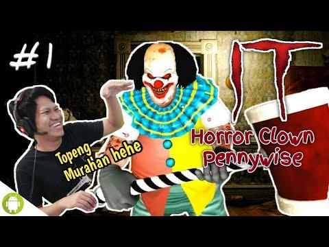 """BADUT PALING IMUT SEDUNIA... """"SETAN""""!! IT Horror Clown Pennywise Part 1 ~Cekikikan Kuntilanak!!"""