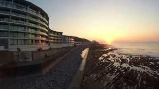 Westward Ho! Sea Front at Sunset September 2014
