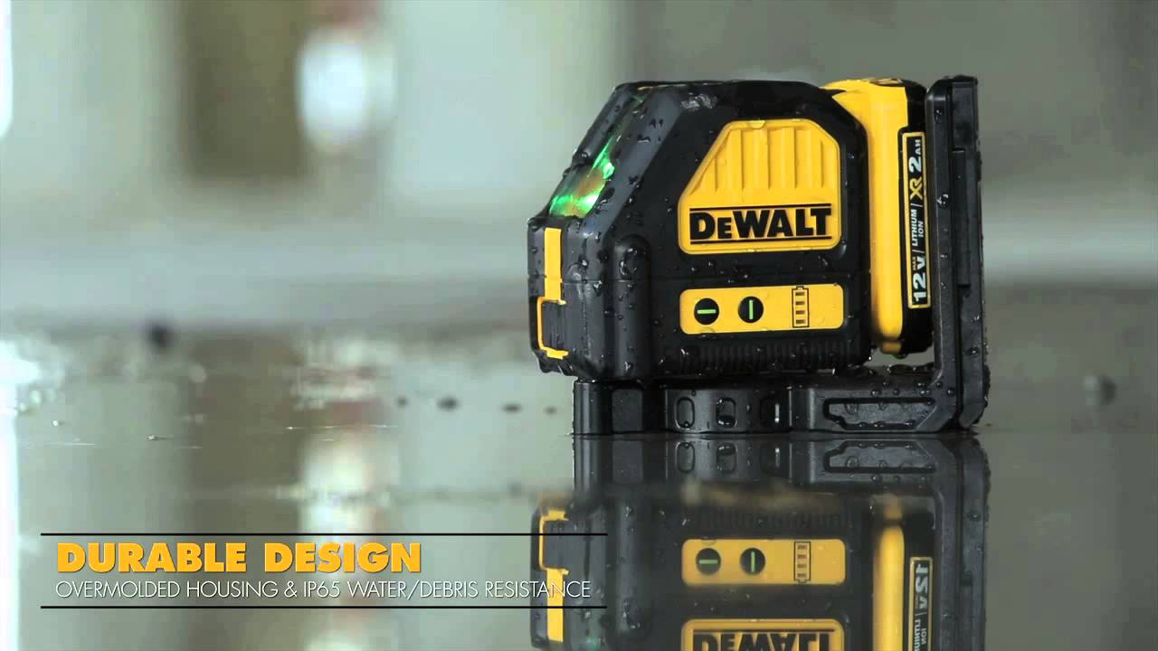Dewalt 12 V Green Cross Line Laser Model Dw088lg Youtube