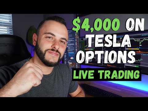 $4,000 Day Trading Tesla Options | LIVE TRADING