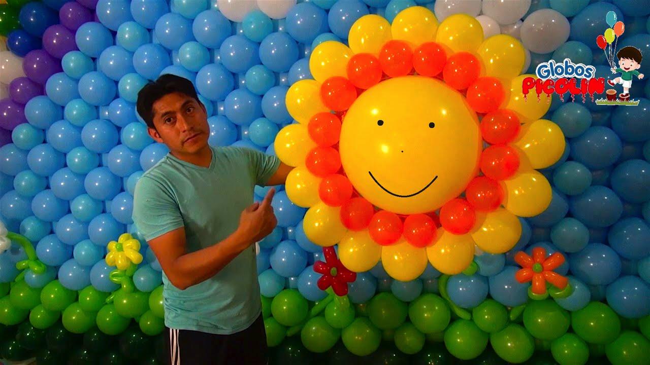 Como hacer un sol con globos 36 youtube for Como hacer decoracion con globos