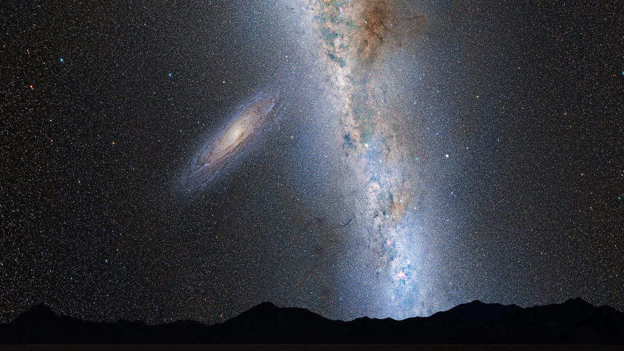 hight resolution of andromeda milky way collision