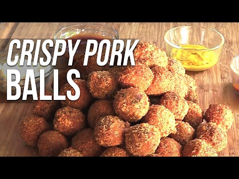 Crispy Pulled Pork Meatballs recipe
