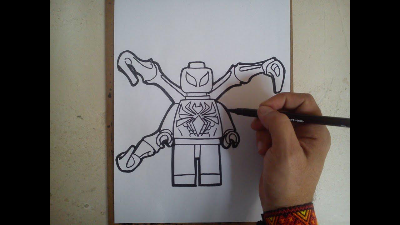 """COMO DIBUJAR A IRONSPIDER """"LEGO"""" / how to draw ironspider ..."""