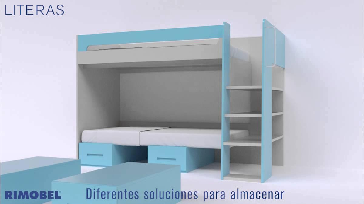 Habitaciones juveniles muebles literas rimobel youtube for Muebles joven