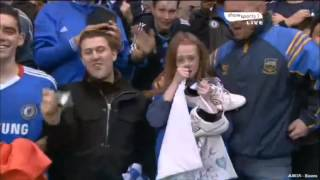 John Terry gives shoe to crying girl