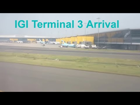 INDIA : Indira Gandhi International Airport Terminal 3 Arrival Scenes