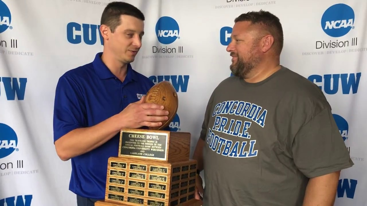 CUW Football post-game interview with head coach Greg ...
