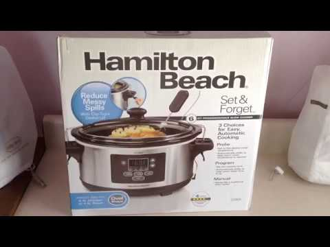 Hamilton Beach 6 Qt Set And Forget Probe Slow Cooker Unboxing & Customer Review