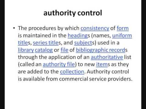 الضبط الاستنادي authority control