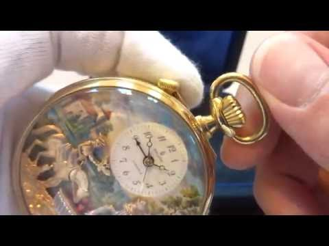 Reuge automaton musical alarm pocket watch