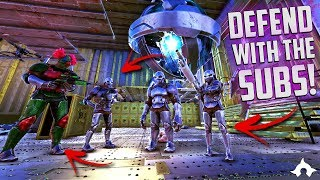 DEFEND WITH THE SUBS! | UNOFFICIAL ARK | Elemental PVP Server ...