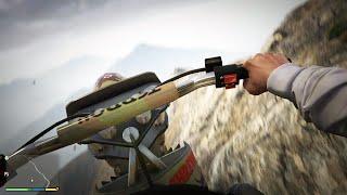 GTA V Next Gen PS4 - Mount Chiliad! MOTO e PÁRA-QUEDAS em First Person!
