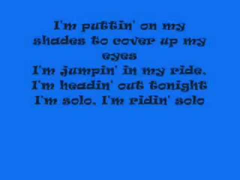 Ridin' Solo Jason Derulo Lyrics