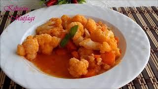 Zeytinyağlı karnabahar yemeği tarifi - Zeytinyağlı karnabahar yemeği nasıl yapılır | Kibarin Mutfagi