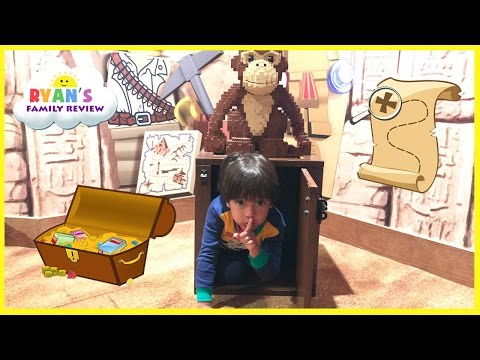 Legoland Treasure Chest Hunt surprise toys for kids! Hide N Seek Family Fun Children Activities Lego