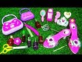 MINI BEAUTY ACCESSORIES TOYS FOR GIRLS WITH DISNEY PRINCESS SHOES ,WAND TIARA AND MAKEUP TOYS
