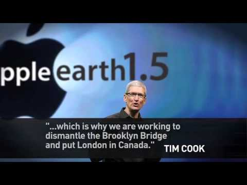 Apple to edit the Earth to fit their maps