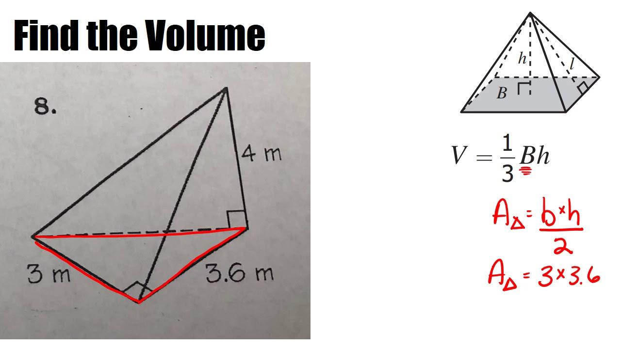 Volume of Triangular Pyramid 28