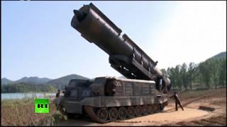 Видео запуска КНДР баллистической ракеты средней дальности