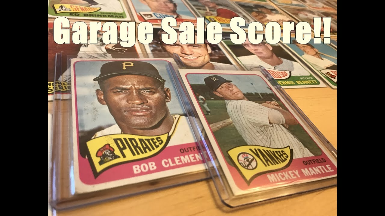Awesome Vintage Baseball Card Discovery At Garage Sale Clemente Mickey Mantle Beauties