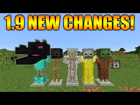 ★Minecraft 1.9 Update - NEW Glowing Armor Stands Effect Enderdragon Changes (Snapshot 16w02a)★