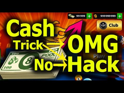 OMG Cash Trick 8 Ball Pool Without Hack Unlimited cash
