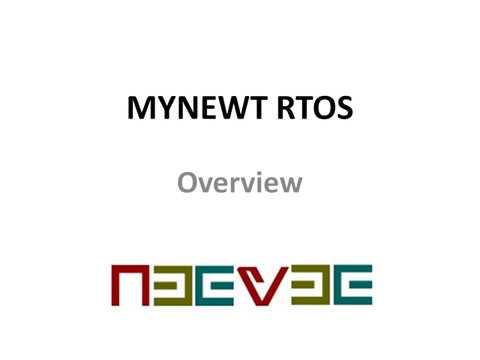 Apache Mynewt Real Time Operating System