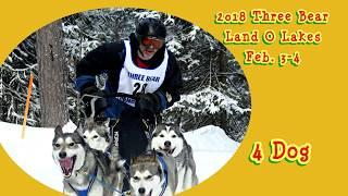 2018 Three Bear 4 Dog speed  sled dog race
