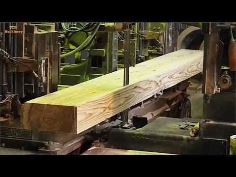 Most Satisfying Factory Wood Sawmill Machines, Extreme Fast  Wood Working Machine