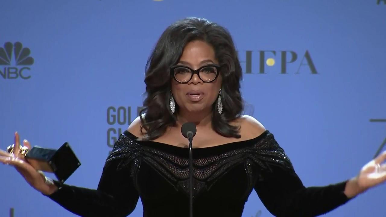 9c8ee70e68f8 Oprah Winfrey - 2018 Golden Globes - Full Backstage Speech - YouTube