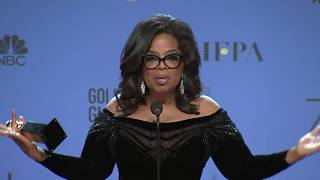 Oprah Winfrey - 2018 Golden Globes - Full Backstage Speech