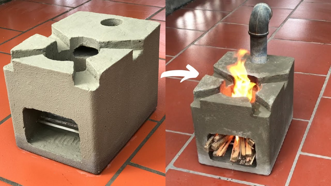 Beautiful wood stove casting technique by foam barrel -  cement -  sand