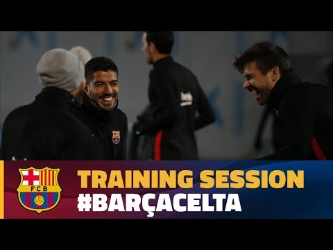 Last workout before the cup match against Celta