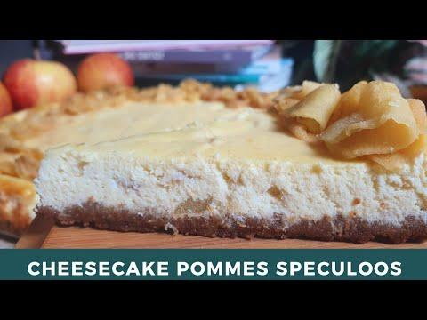 recette-de-cheesecake-aux-pommes-et-speculoos-|-facile-et-crémeux