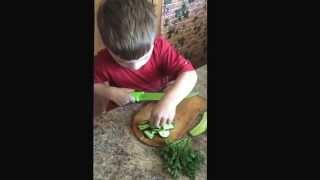 Мастер класс по нарезке салата