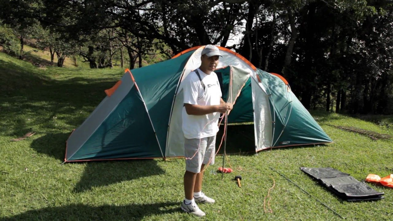 NTK Explorer GT 2 separate rooms 4 Person 15.2 by 10.2 Foot Sport C&ing Tent 100% 2500mm - YouTube & NTK Explorer GT 2 separate rooms 4 Person 15.2 by 10.2 Foot Sport ...