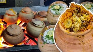 Secrets of Matka Biryani | Traditional Pot Biryani Recipe | Pakistan Street Food Beef Biryani