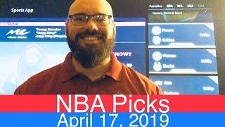 NBA Picks (4-17-19)   Playoffs Basketball Sports Betting Predictions Video   Vegas   April 17, 2019