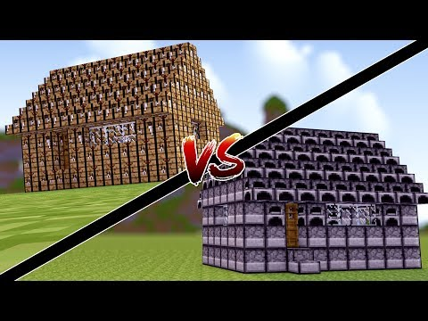 Minecraft: CASA DE CRAFT TABLE VS CASA DE FORNALHA !!