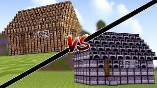 Minecraft: CASA DE CRAFT TABLE VS CASA DE FORNALHA !!