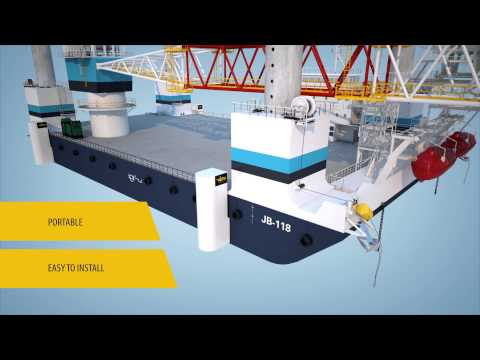 Portable propulsion solution Veth Propulsion for Jackup-barge