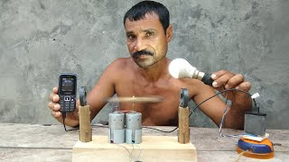 Download How to make free energy || light bulbs || generoater with magnets & Dc motor|| by tlahan Mp3 and Videos
